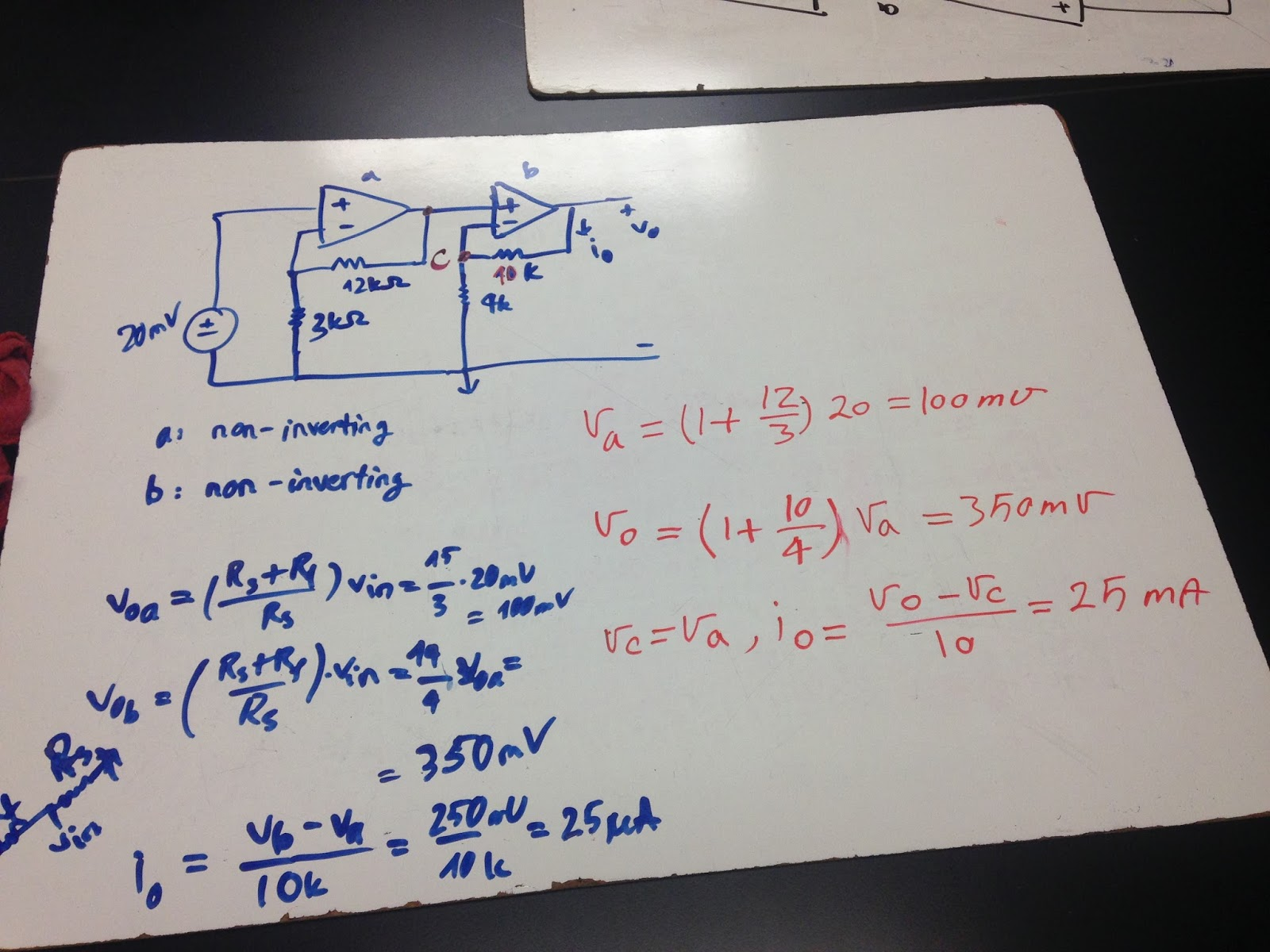 Engineering 44 Tnguyen Day 12 Cascaded Op Amps Temperature Amp Circuit Is The Noninverting Amplifier A Includes Two Non Inverting We Apply Formula Of For Each Vout Rf Rs Vin Deduce