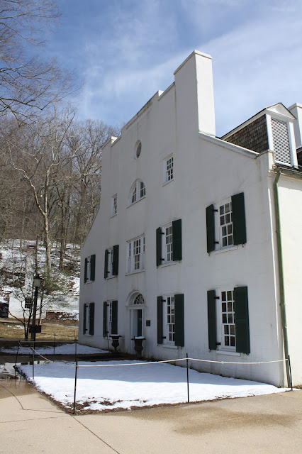 Historic tavern now a Visitor Center at Great Falls in Maryland