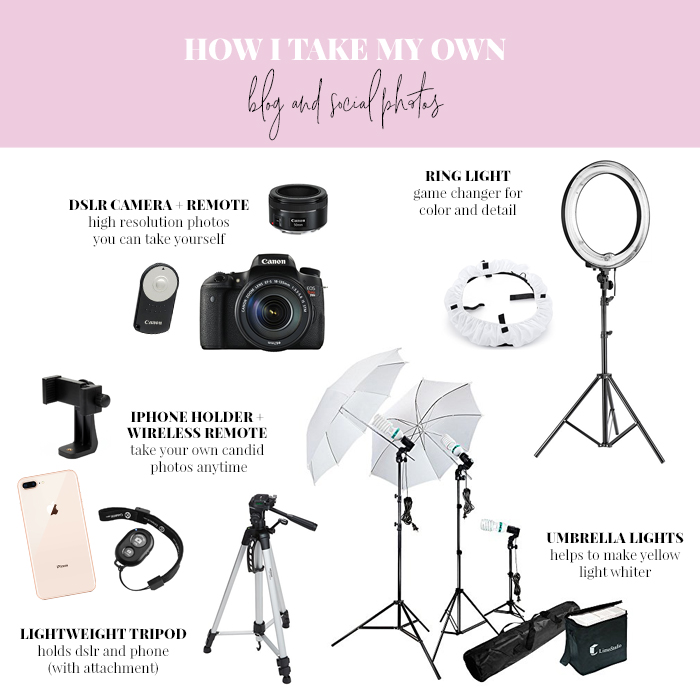 photo equipment to take your own photos