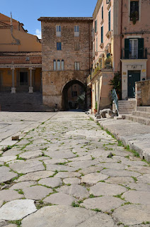 The Via Antica Appia passes through the ancient port of Terracina