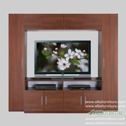 lemari tv lcd minimalis model united