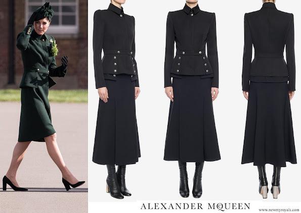 Kate Middleton wore Alexander McQueen Military-inspired peplum jacket