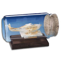 Airplane Sculpture in a Bottle