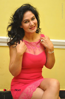 Telugu Actress Vijaya Murthy Stills in Red Short Dress at Www.Meena Bazaar Movie Opening  0038.JPG