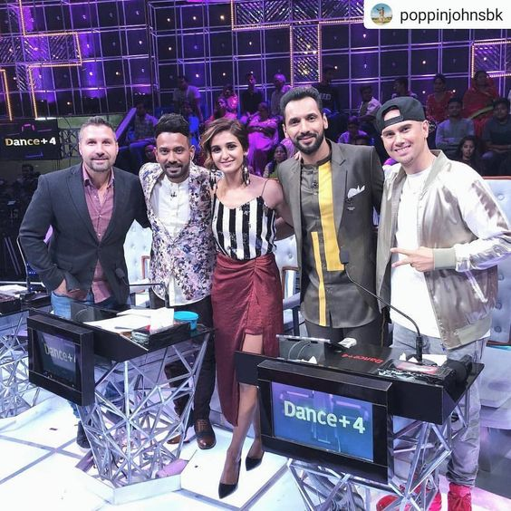 Selfie on Dance plus 4 Star Plus shakti mohan, punit pathak, Dharmesh Yelande