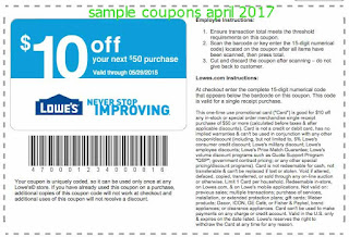 Lowes Home Improvement coupons april