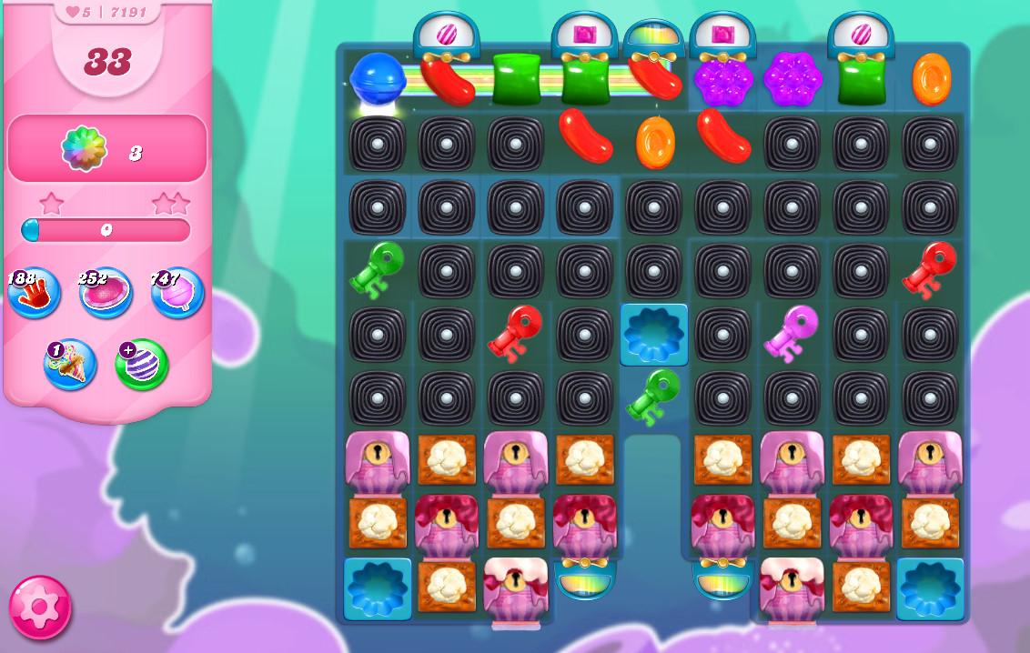 Candy Crush Saga level 7191