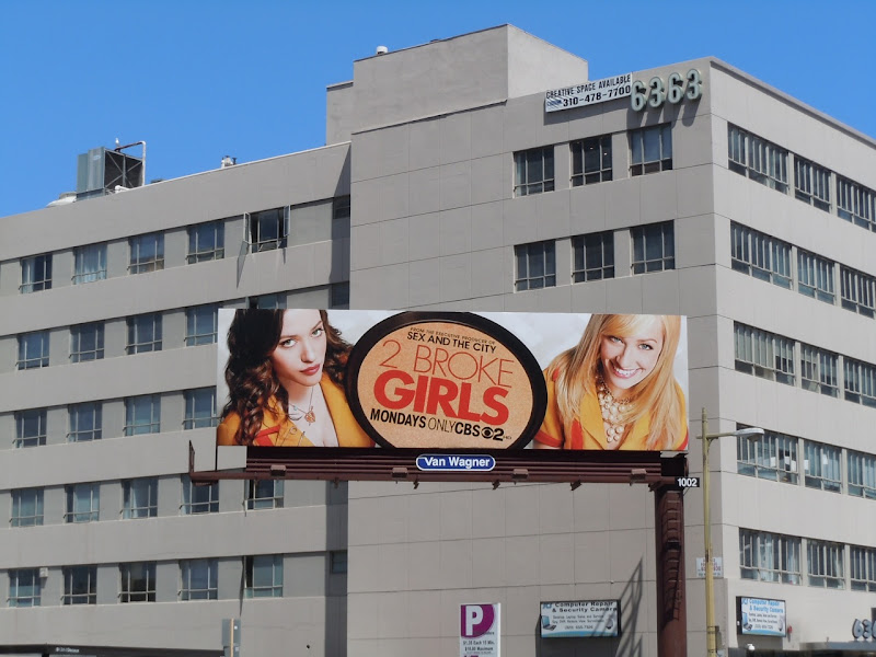 2 Broke Girls TV billboard