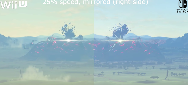 Mira este vídeo comparativo de The Legend Of Zelda Breath Of The Wild