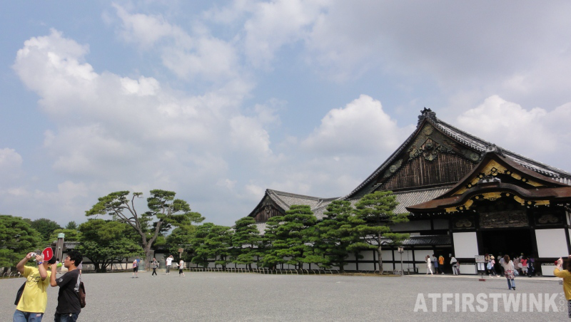 Ninomaru palace wide view nijo castle kyoto Japan