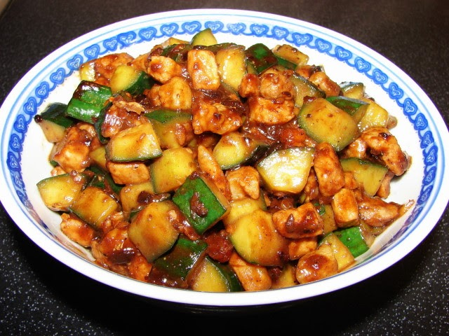 Sunflower Food Galore: Stir fried pork and cucumber with ...