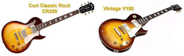 Cort Clássic Rock CR250 Vs Vintage V100 Les Paul Guitar