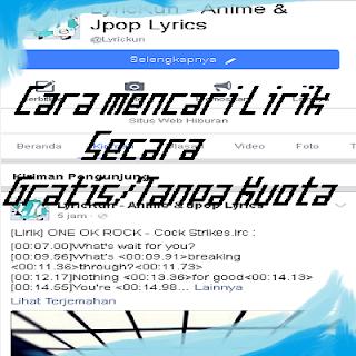 Download Lirik Cara Menampilkan lirik lagu secara gratis/tanpa kuota dengan mudah