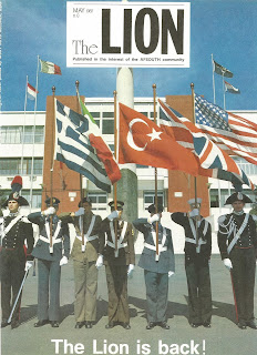 Cover of The Lion Magazine, AFSouth, JFC NATO, May 1987 Photo by Boyd Belcher, USAF