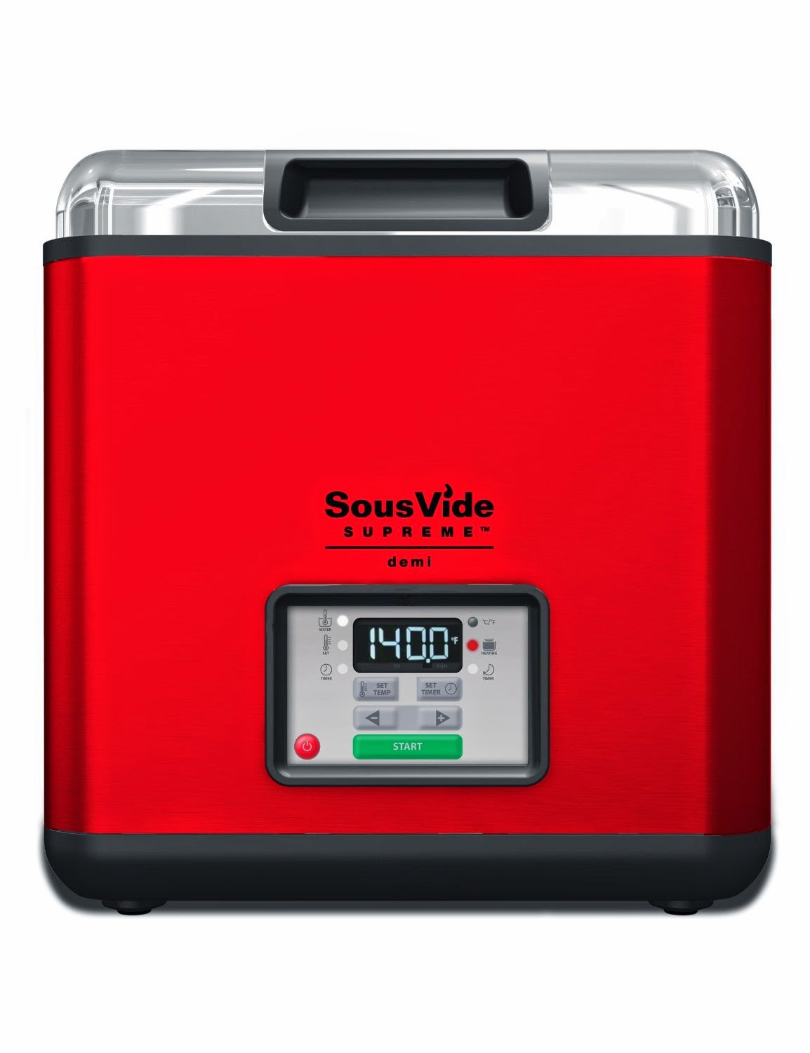 Sous Vide Supreme Demi Water Oven 8.7 liters, red, picture, review features & specifications