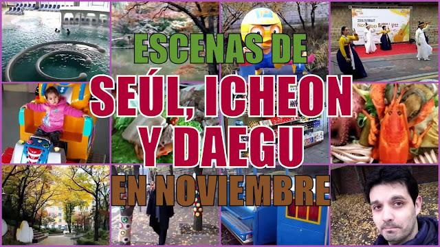 Recopilación de escenas de Corea en noviembre