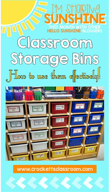 You can use these storage bins for team, class and lesson materials instead of assigning one to each student.  Much more efficient use of the space and materials.