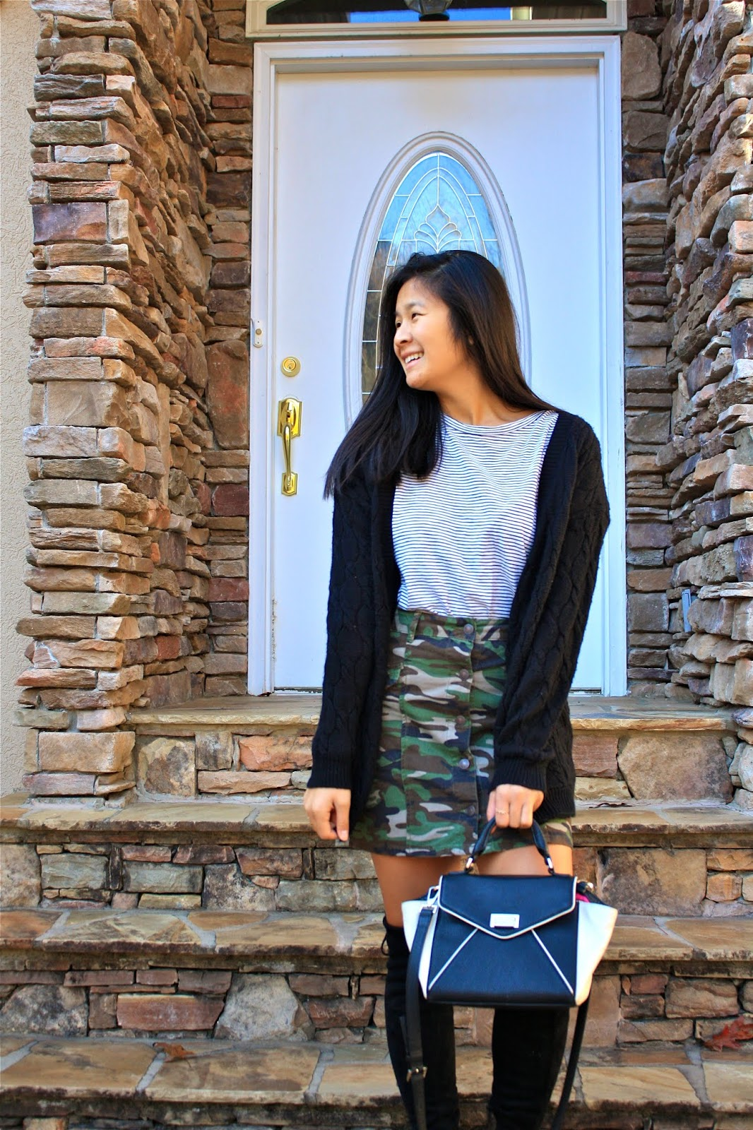 How to style a camo skirt