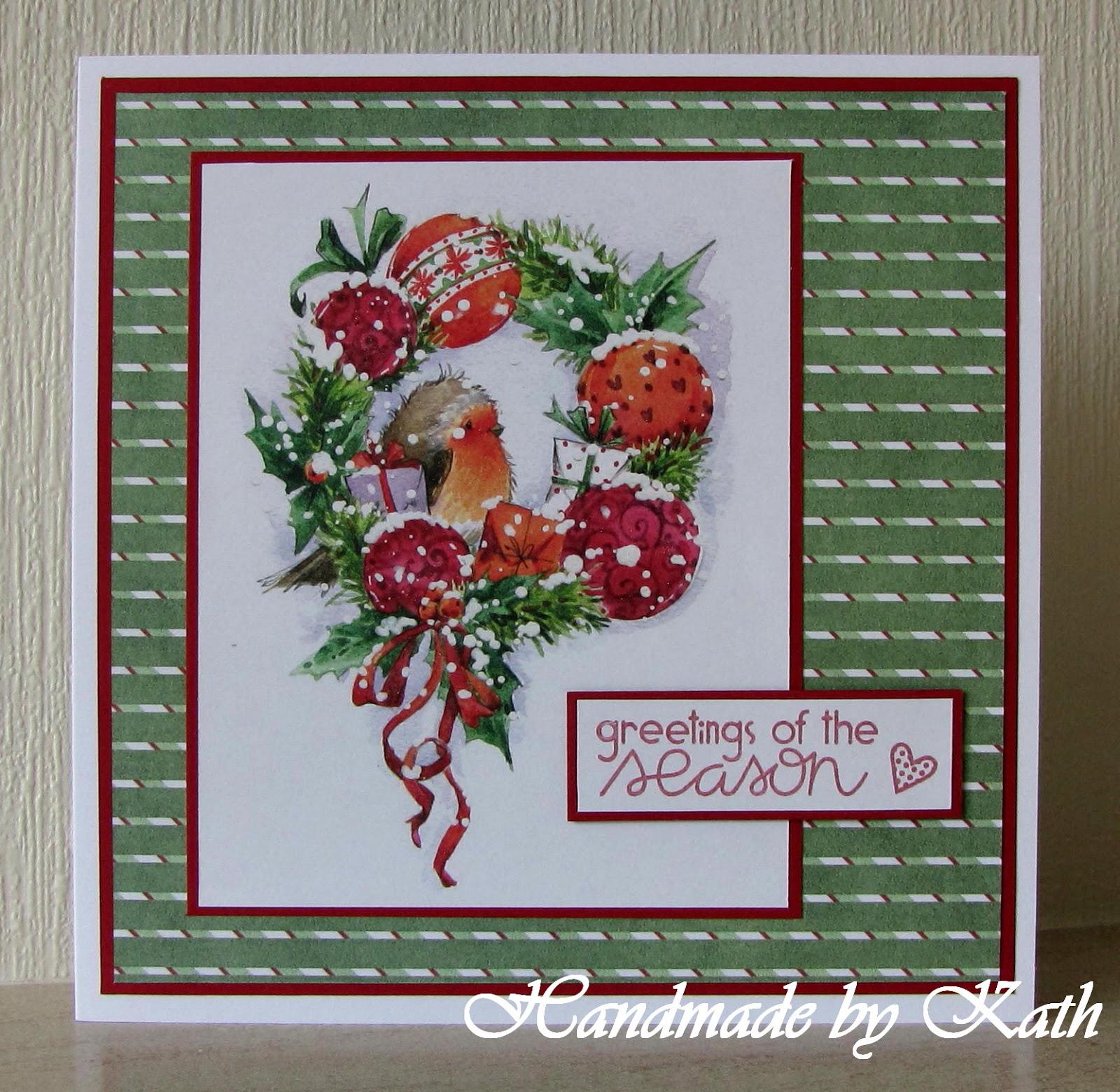 Handmade By Kath Greetings Of The Season