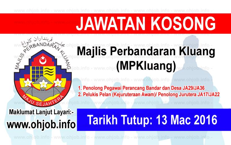Jawatan Kerja Kosong Majlis Perbandaran Kluang (MPKluang) logo www.ohjob.info mac 2016