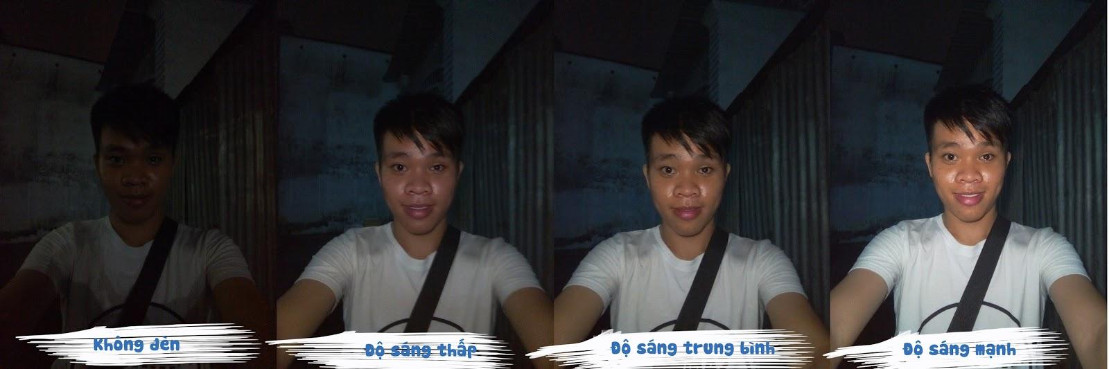 Thử chụp ảnh với 3 độ sáng khác nhau bằng đèn selfie gắn vào cổng tai nghe