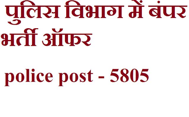 UPPRPB :   POLICE post offer / पुलिस विभाग में बंपर भर्ती ऑफर
