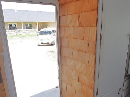 Cedar Shingle Motorhome Accent Wall