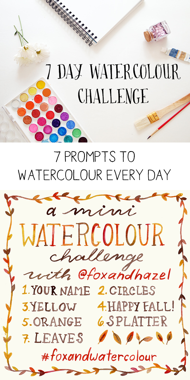 7 Day Mini Watercolour Challenge