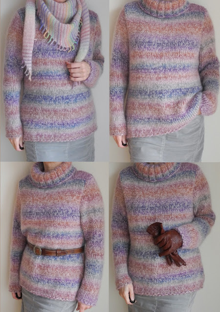 Fb Wolle Kreativ Mohairlana Color 101 rosa//beige 25 g Lana Grossa