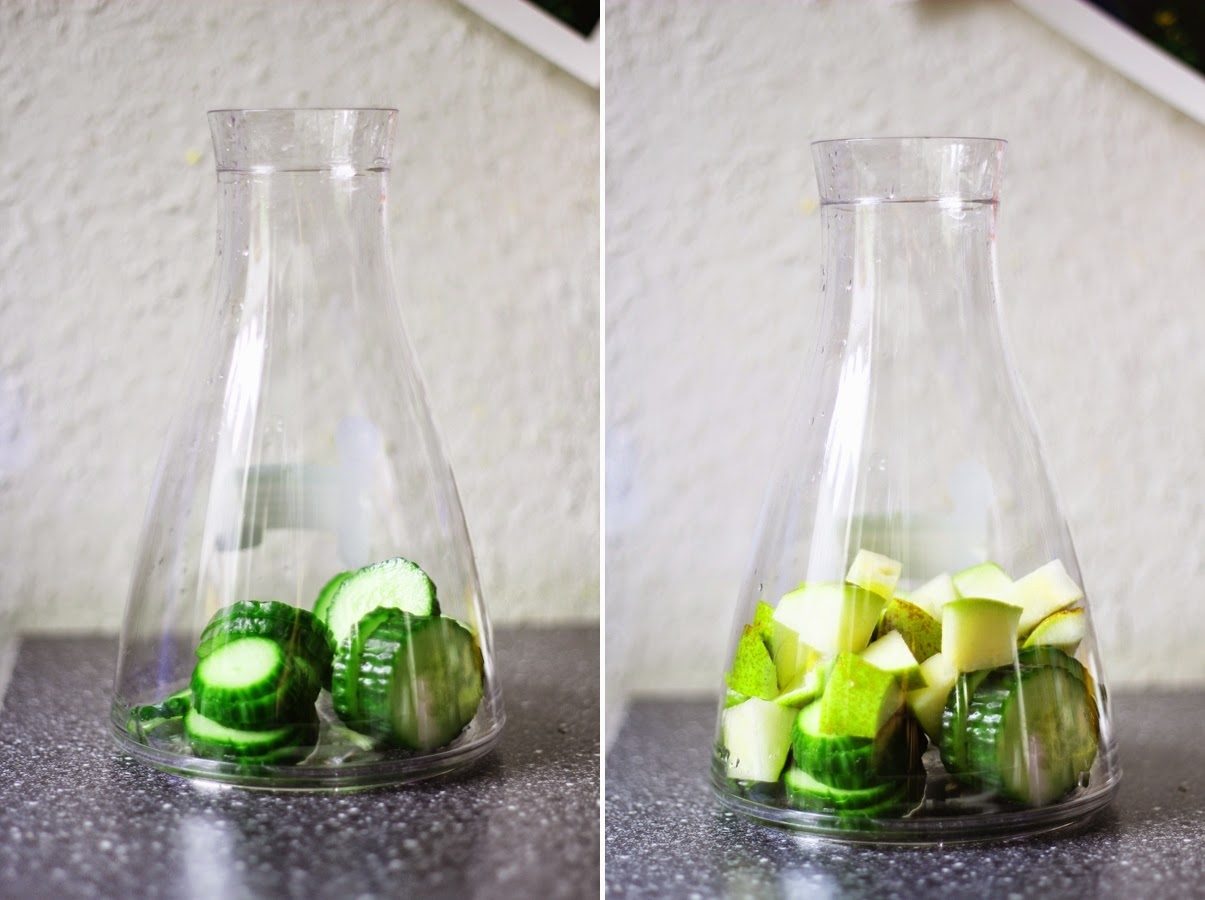healthy lifestyle fruit infused water