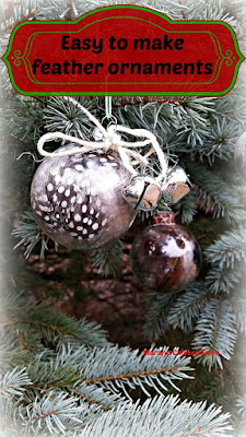 DIY feather ornaments