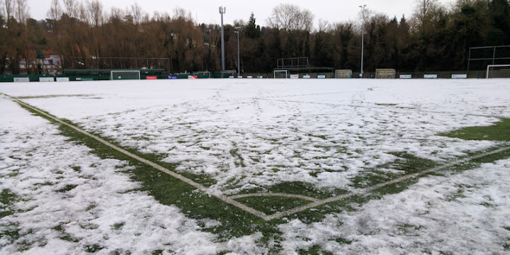 Image result for snow on 3g pitch