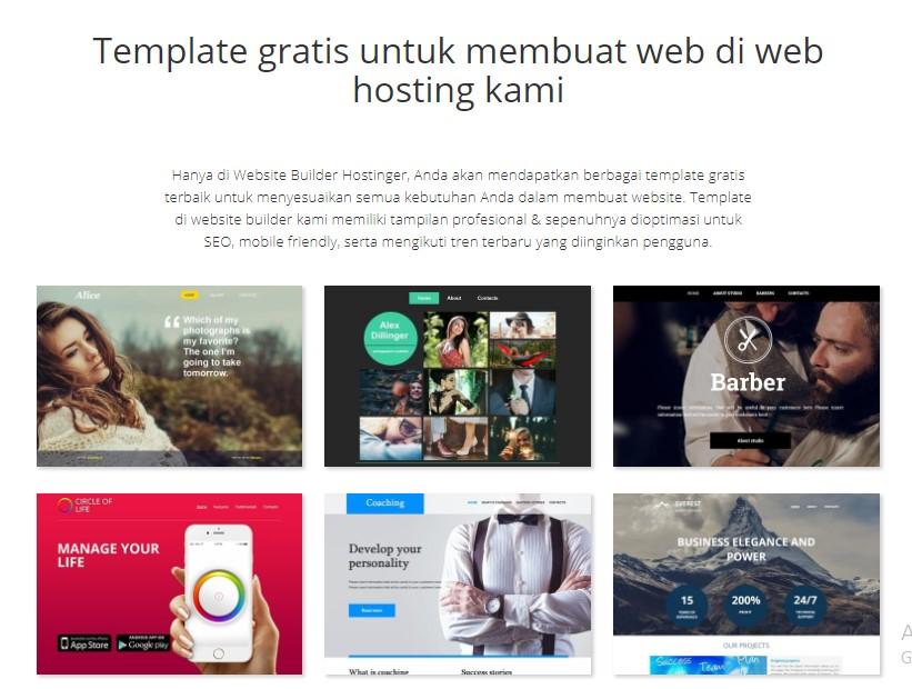 website builder Hostinger