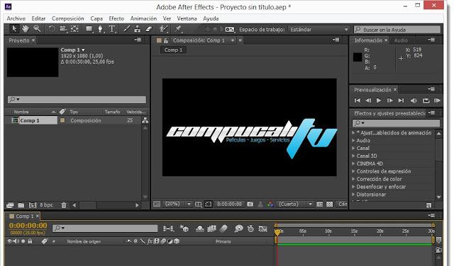 Adobe After Effects CC Versión 12.0