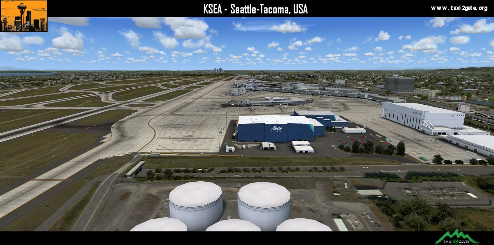 P3Dv4] Taxi2Gate - Seattle-Tacoma International Airport