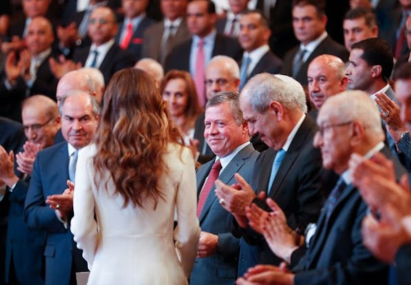 King Abdullah and Queen Rania attended the launch of 10 years National Strategy for improving the human resources