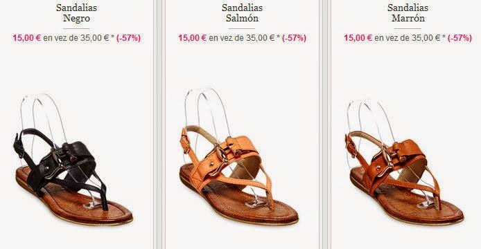 Sandalias planas a 15 euros