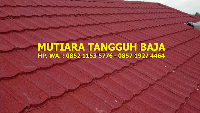 Jual Genteng Metal Berpasir Surya Roof 2x4 Murah Perlembar 2018-2019 Jakarta Timur