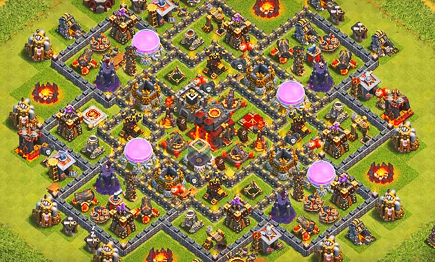 Base TH 10 Terkuat dalam Games Clash of Clans