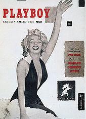 Marilyn Monroe on teh cover of Playboy Magazine