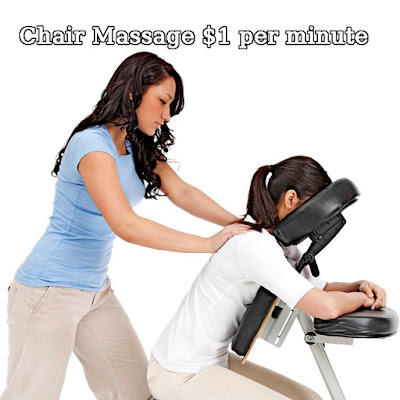 Chair Massage Only $1 Per Minute