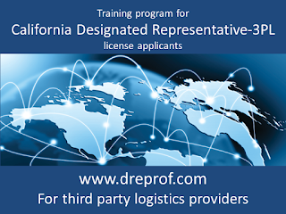 California Designated Representative Training for 3PL (approved by the California State Board of Pharmacy)