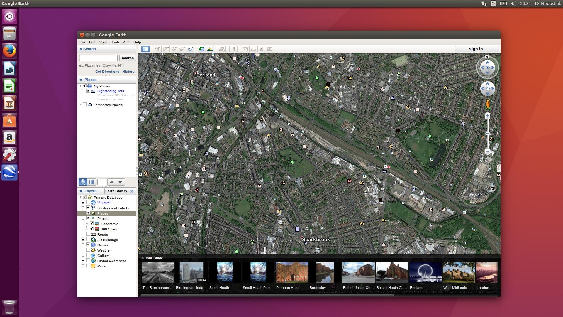 Google themes ubuntu 14.04 - Google Earth