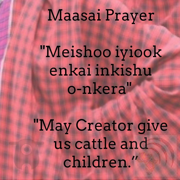 Maasai Children and Cattle Prayer