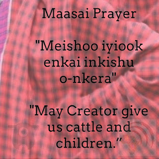 Maasai Children and Cattle Prayer