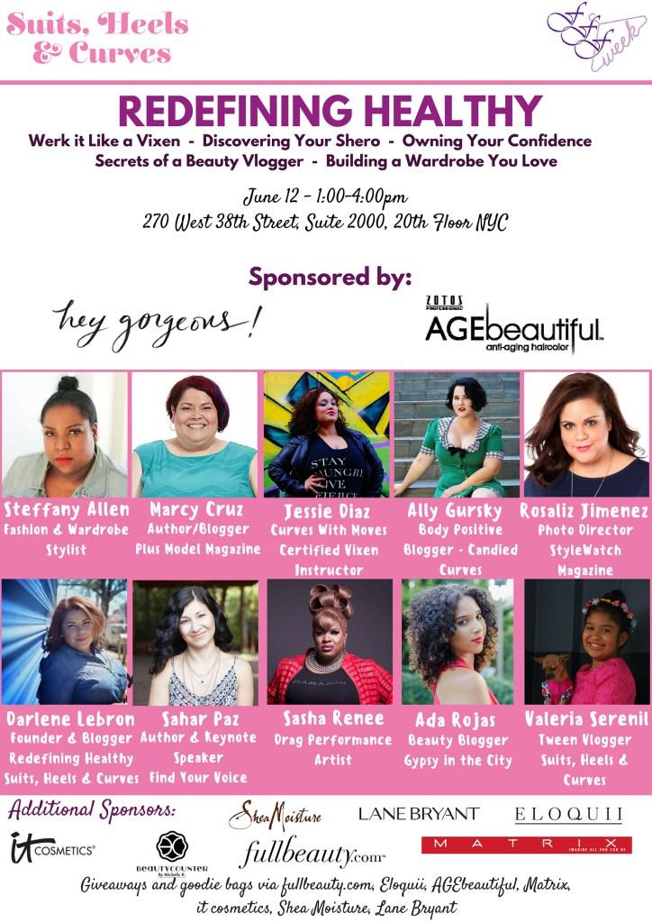 FFFWeek Redefining Healthy Panel Speaker List
