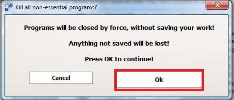 برنامج KillEmAll v5 لتسريع الكمبيوتر