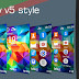 Galaxy v5 style rev 2 theme Nokia 515 240x320 s406th