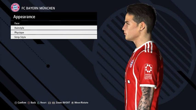 James Rodriguez Face PES 2017