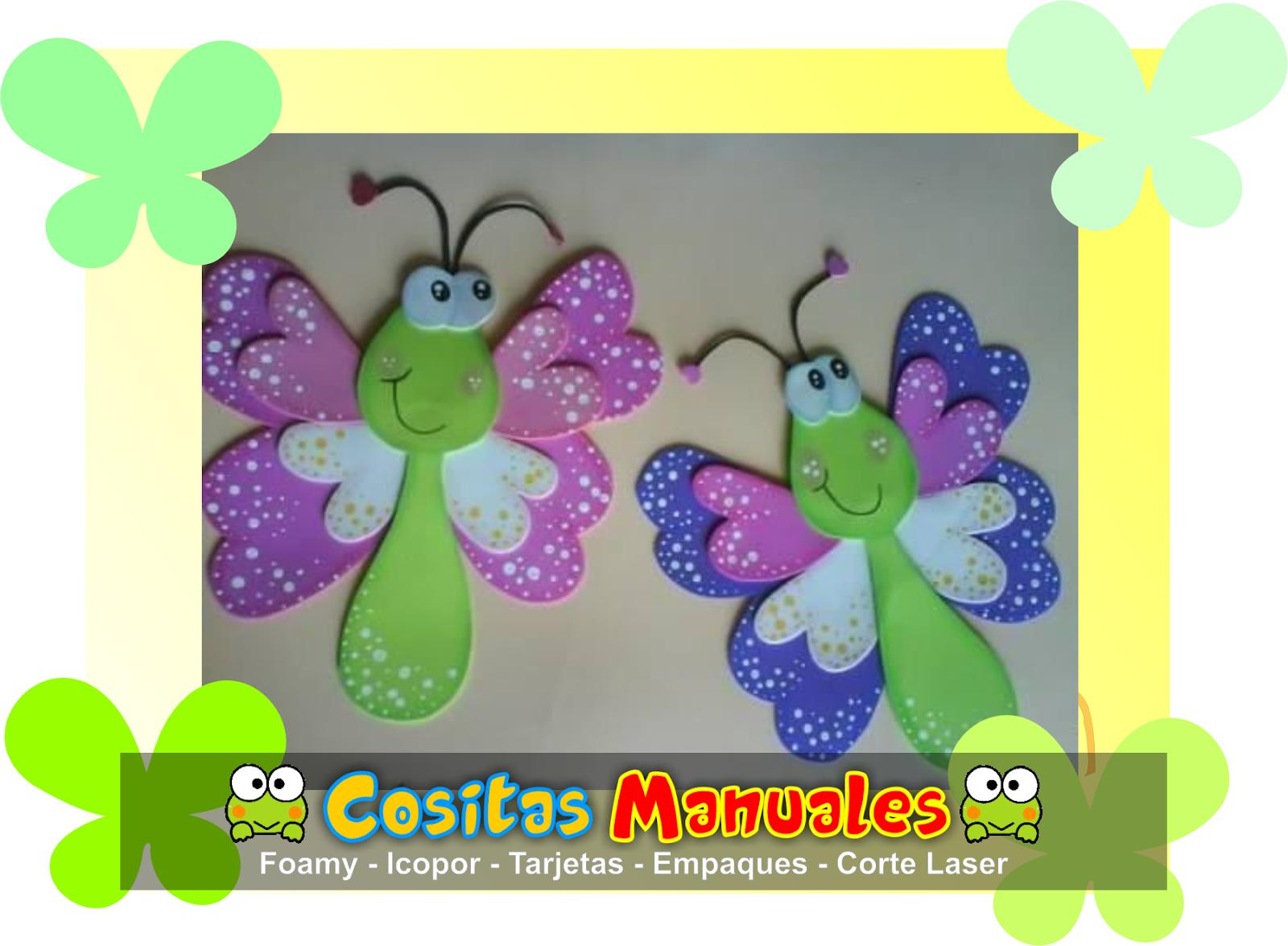 Diseño de Mariposas en foamy - Lili Daza Diseño